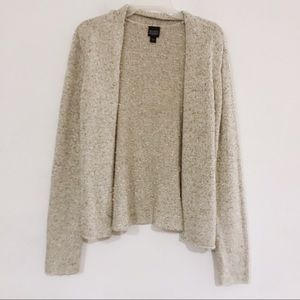 Eileen Fisher SILK nubby texture open cardigan